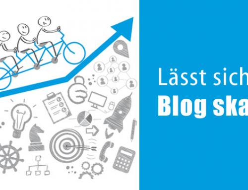 Lässt sich ein Blog skalieren?