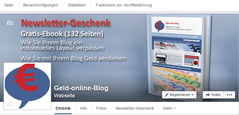 Facebook-Seite von Geld-online-Blog neugestaltet