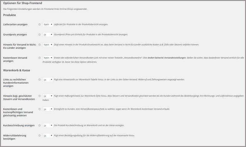 Woocommerce German Market: Installation und Einstellungen