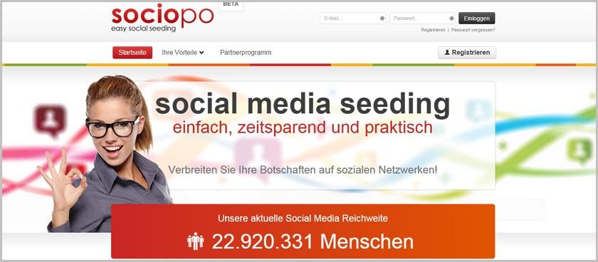 Geld verdienen mit den sozialen Netzwerken wie Facebook, Twitter & Co.: Social Seeding mit Sociopo