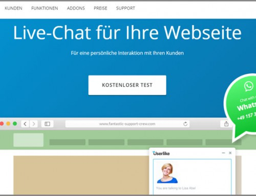 Live-Chat-Software-Anbieter Userlike mit neuem Feature WhatsApp Connect