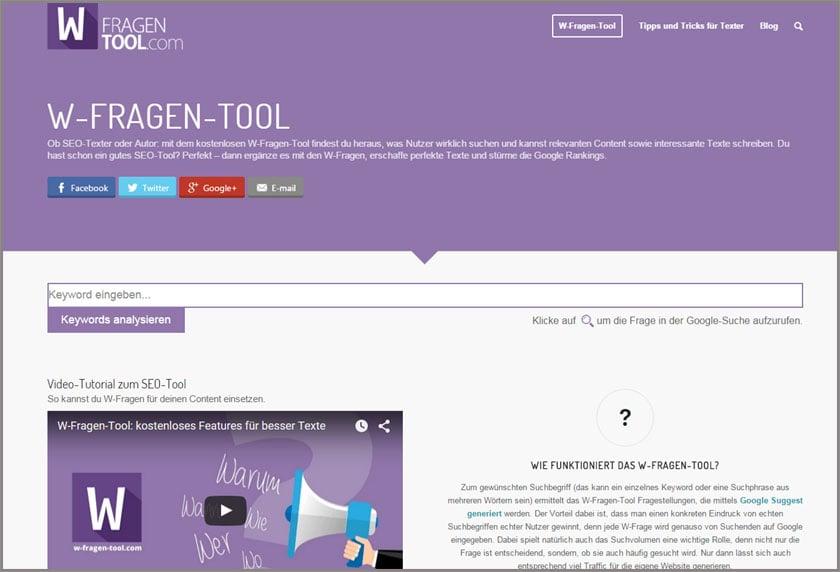 W-Fragen-Tool.com