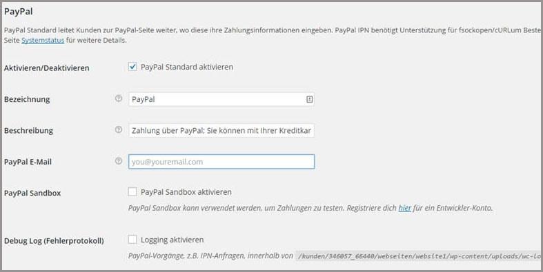 Woocommerce Leitfaden: Teil 5 - PayPal als Zahlungsart im Shop einrichten