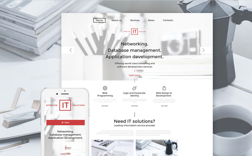 Responsives WordPress Theme für IT