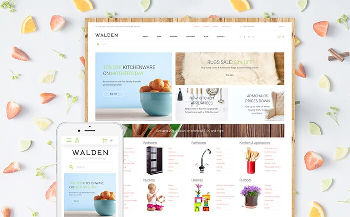 Walden - Home Decor & Furniture Online Store WooCommerce Template