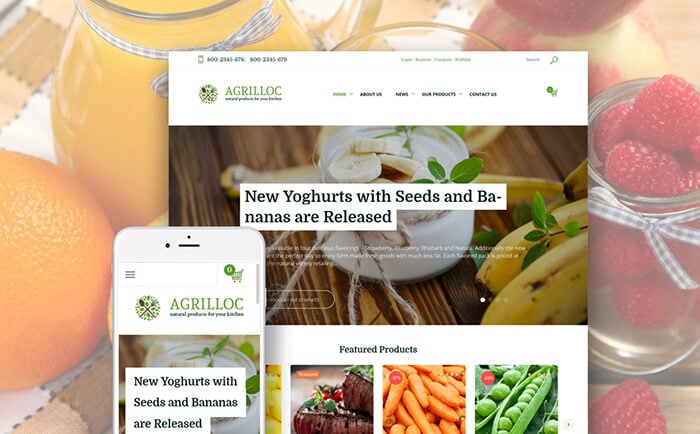 Agrilloc - Natural & Farm Products WooCommerce Template
