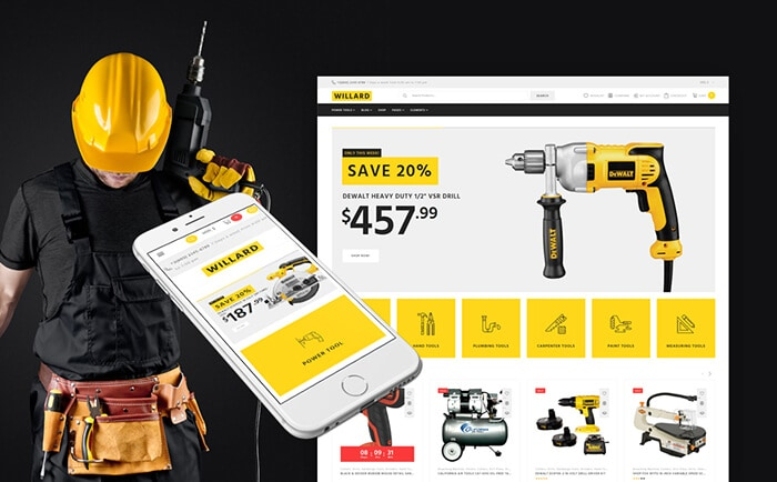 Willard - Tools & Instruments Store WooCommerce Template