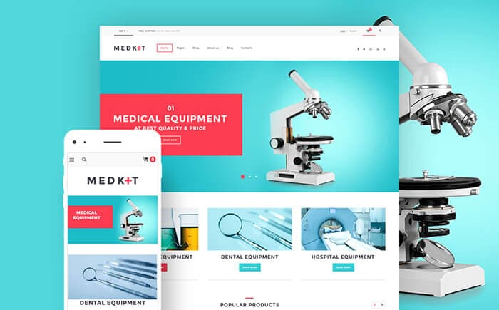 MedKit - Medical Equipment & Devices WooCommerce Theme