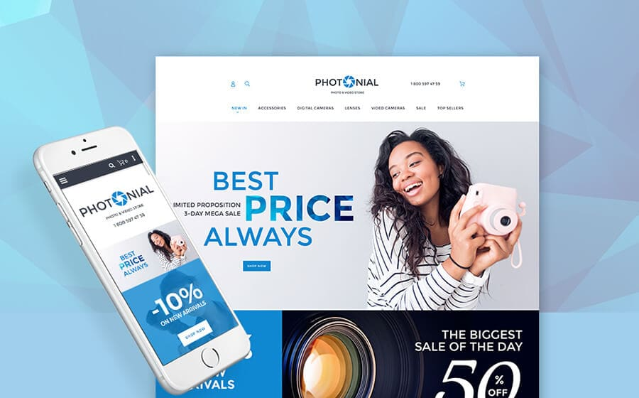 Photonial - Photo & Video Accessories Online Store Magento 2 Theme