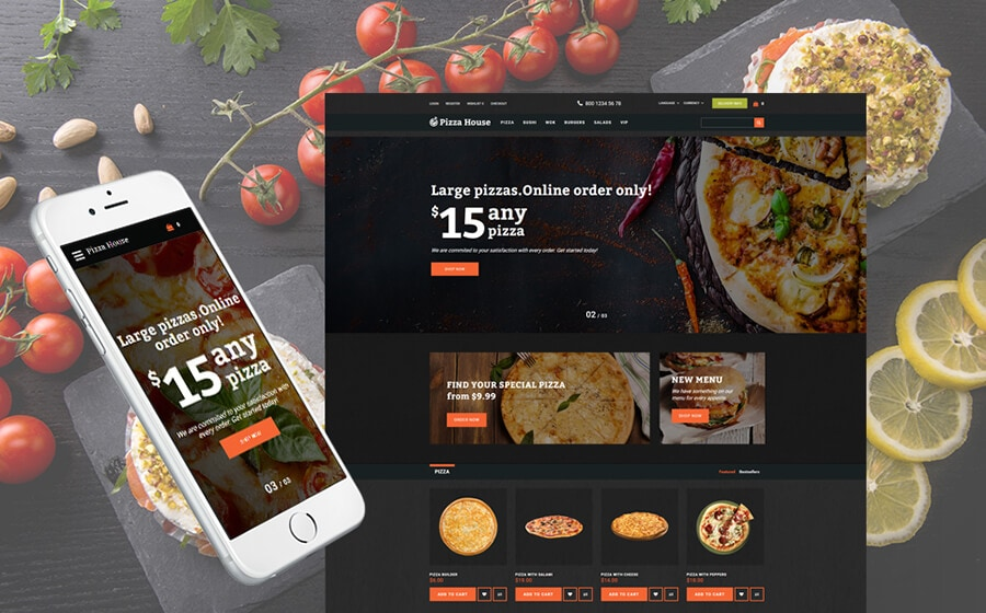 Fooder - Pizza House & Online Ordering System OpenCart Theme