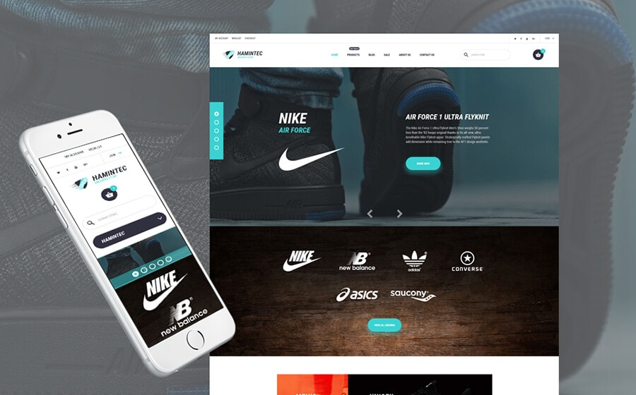 Hamintec - Sport Shoes & Footwear Online Store Shopify Theme