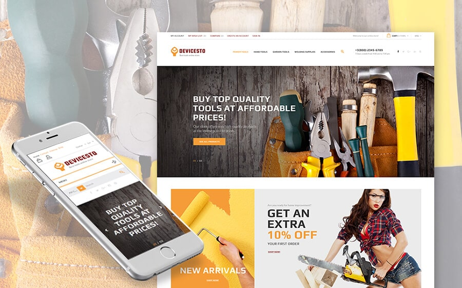DevicesTO - Power Tools Supply PrestaShop Theme