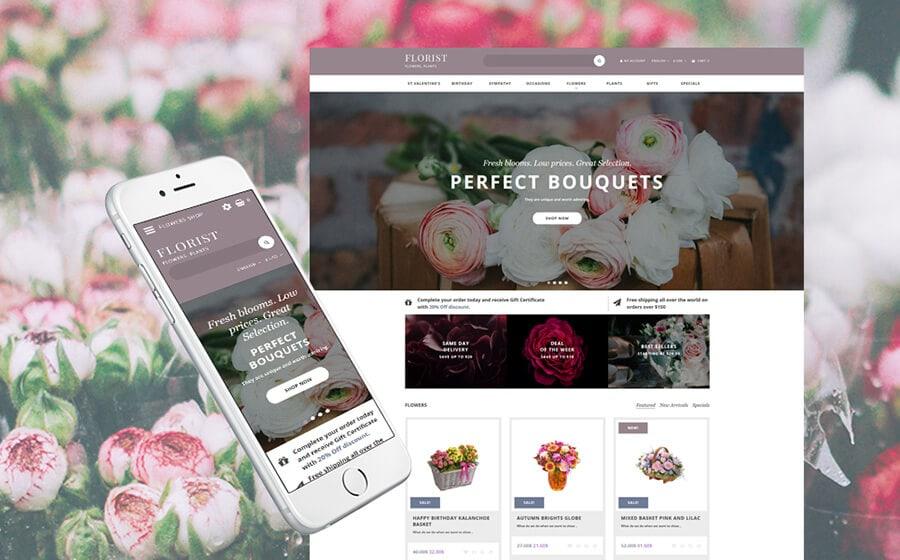 Florist - Flower Online Shop OpenCart Template