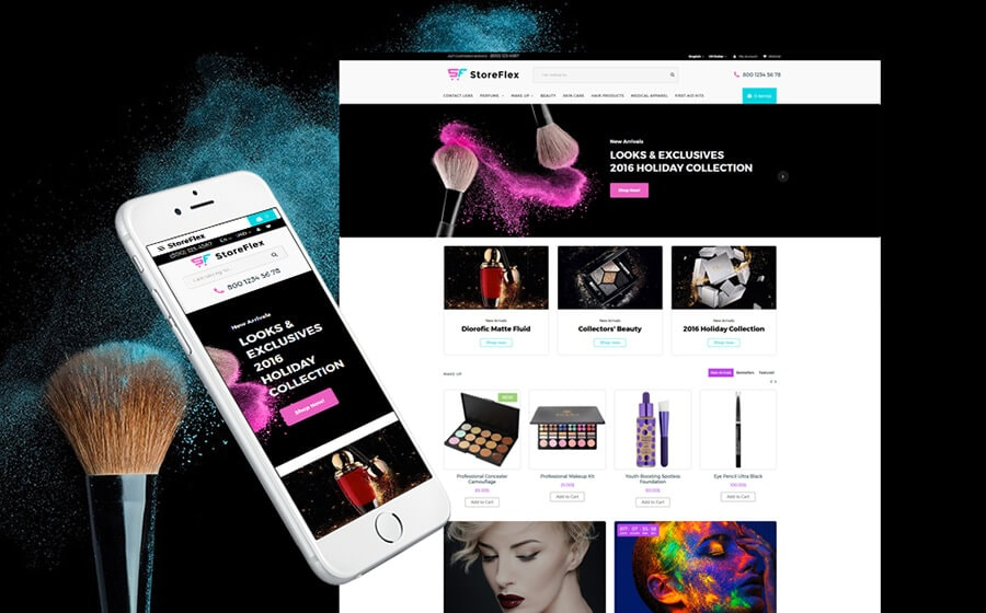 StoreFlex - Fashion & Cosmetics Store OpenCart Template