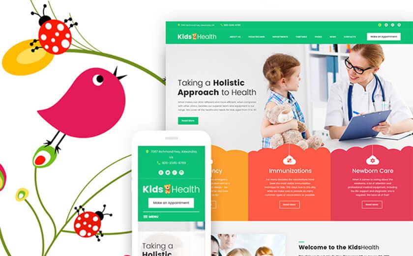 Responsives WordPress Theme für Kinderärzte