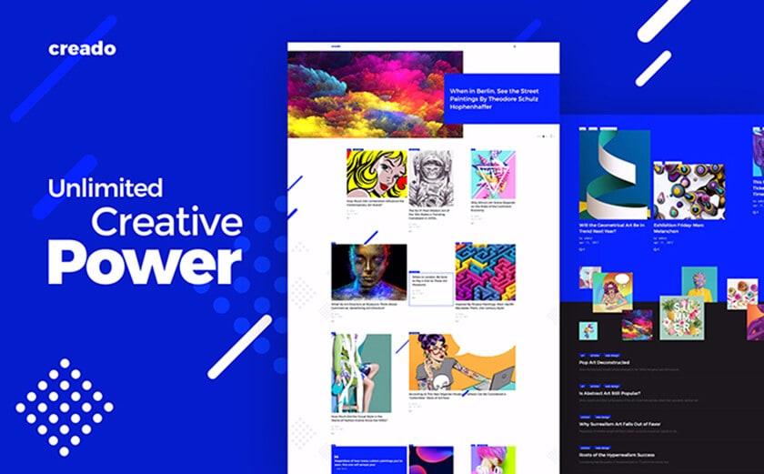 Responsives WordPress Theme für eine Kunstgalerie