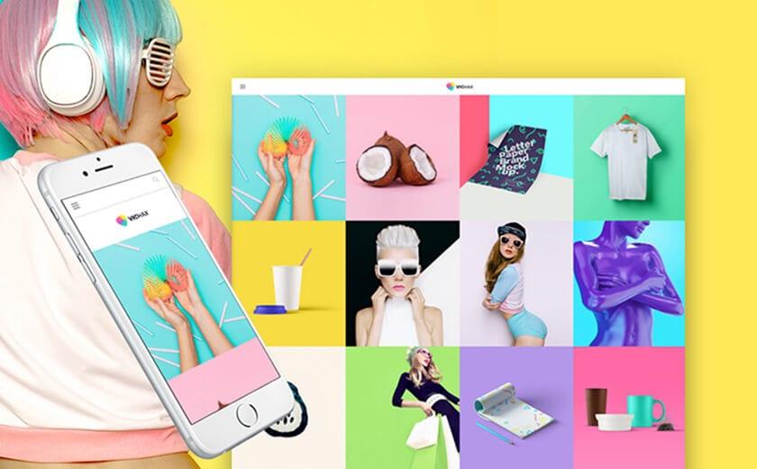 Responsives WordPress Theme für ein Designer Portfolio