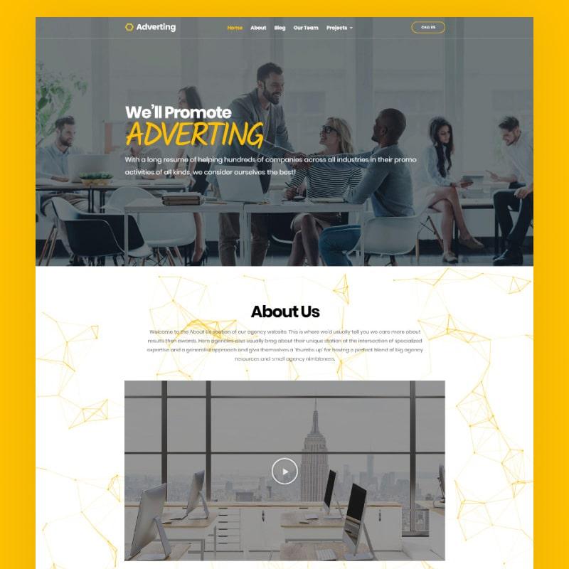 WordPress-Theme Adverting