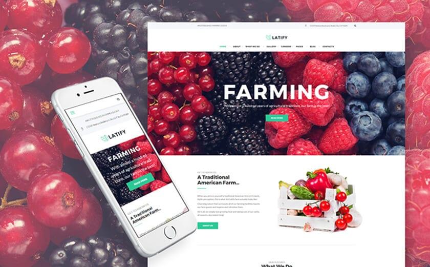 Responsives WordPress Theme für landwirtschaftlichen Betriebe