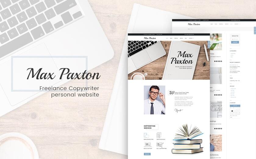 Responsives WordPress-Theme für einen persönlichen Webauftritt
