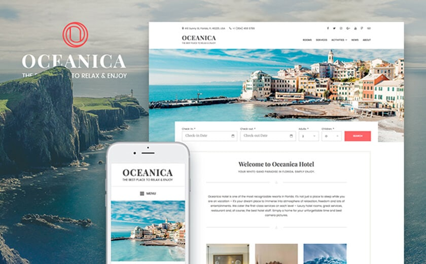 Responsives WordPress Theme für Hotels