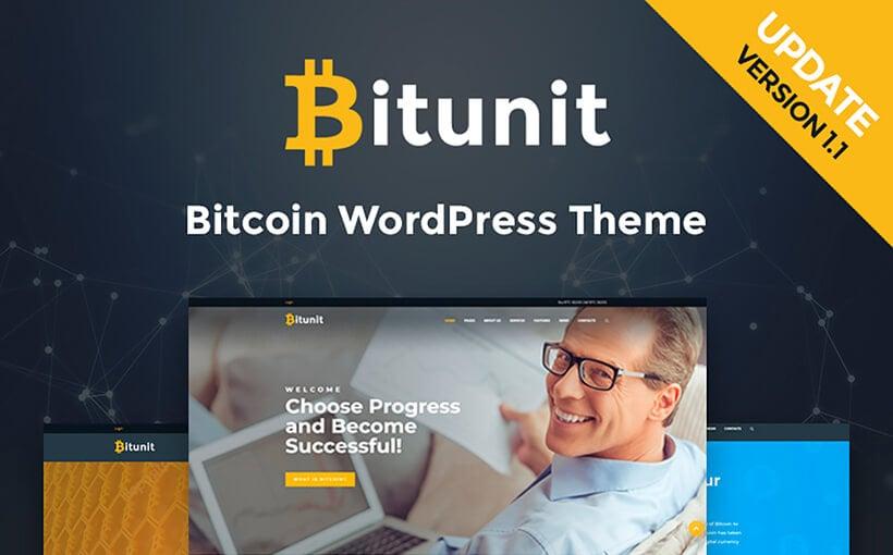 Bitunit: WordPress-Theme für Bitcoin Kryptowährung