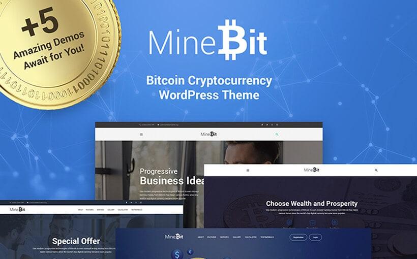 Mine Bit: WordPress-Theme für Bitcoin und andere Kryptowährungen