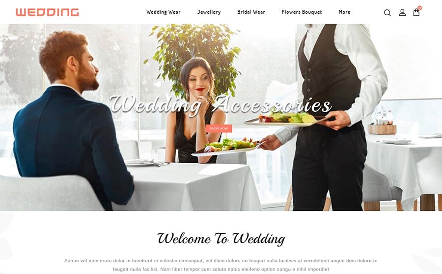 Wedding Collection Store - OpenCart Vorlage für einen Hochzeits-Online-Shop