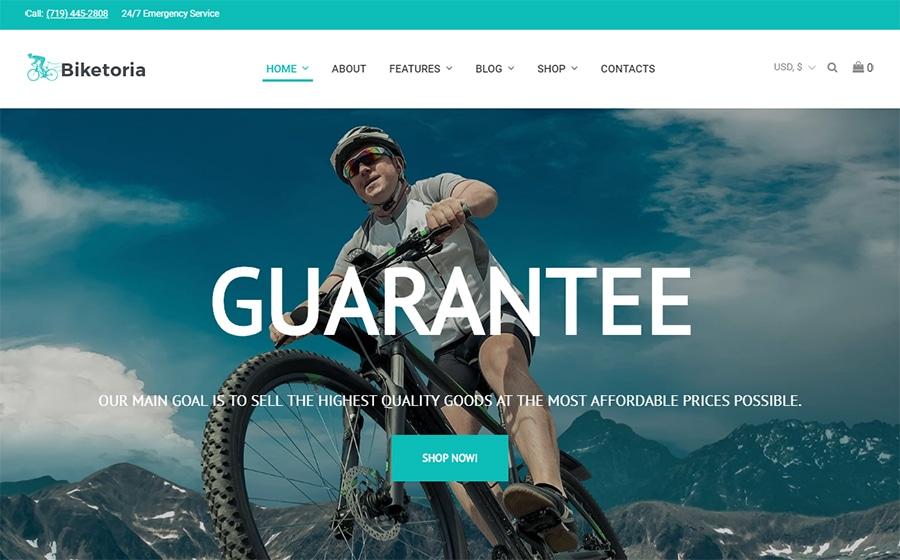 Biketoria - Elementor WooCommerce Theme für Fahrradladen
