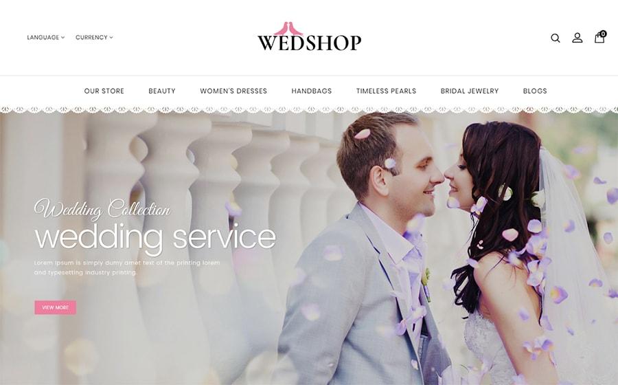 Wedshop - Responsive Vorlage für OpenCart
