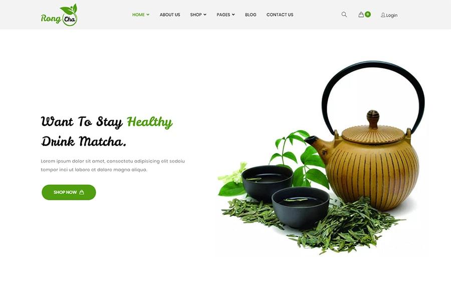 Rongcha - WooCommerce Theme für einen Teeshop