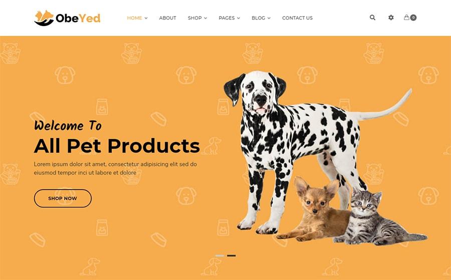 Obeyed - WooCommerce Theme für einen Tiershop