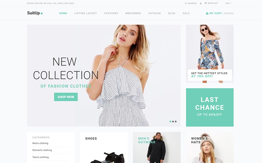 SuitUP - Multipurpose Theme für Shopify