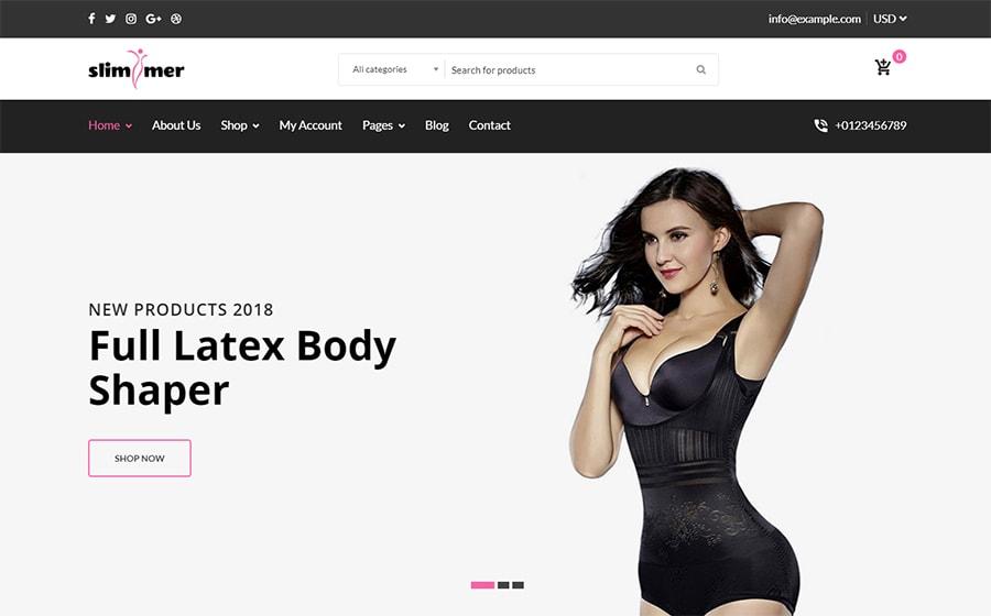 Slimmer - WooCommerce Theme für einen Shapewear-Shop