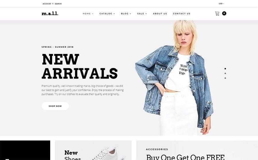 m.a.l.l. - Shopify Theme für einen Modeshop