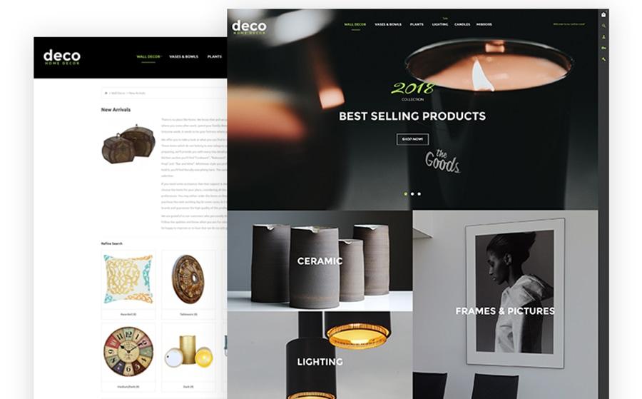 Deco - OpenCart Vorlage für Innenraumdesign