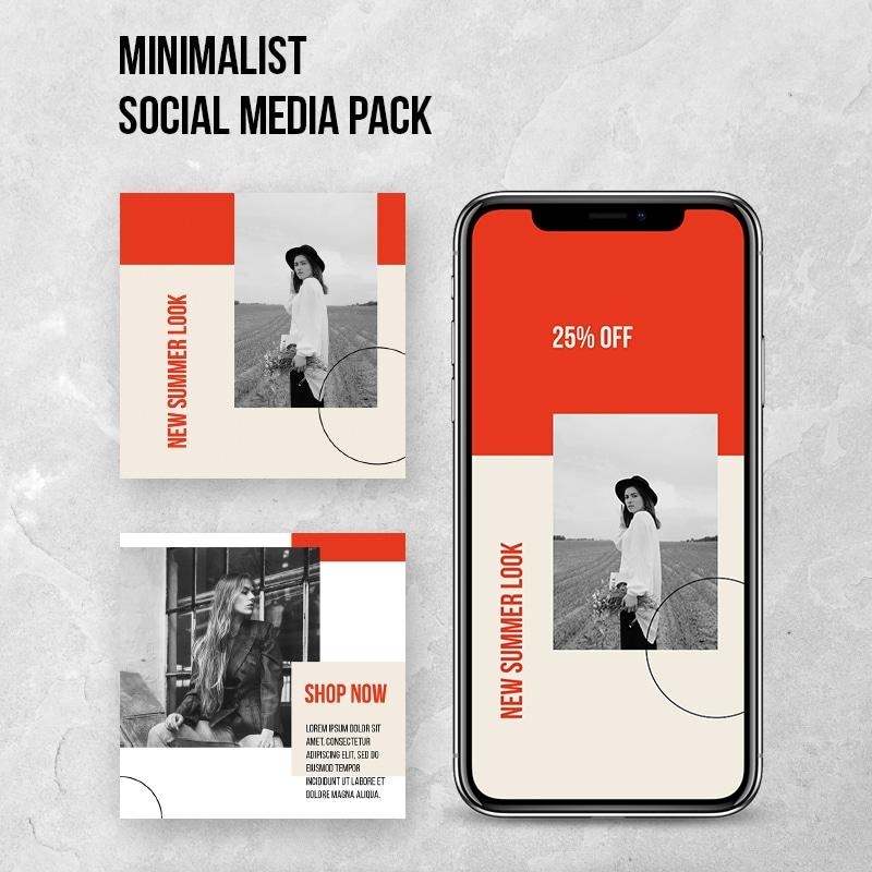 "Social Media Pack ""Minimalist"""