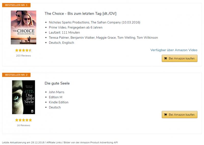 AAWP-Bestsellerliste