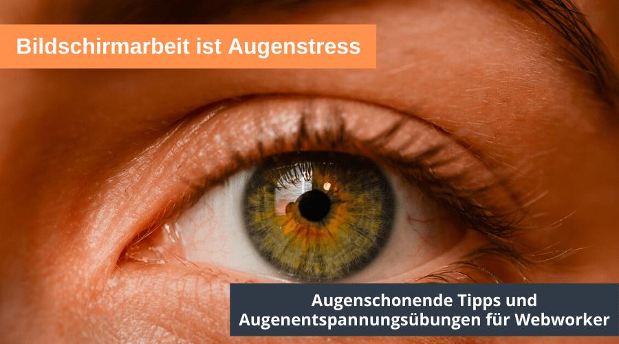 Augenschonende Tipps und Augenentspannungsübungen für Webworker