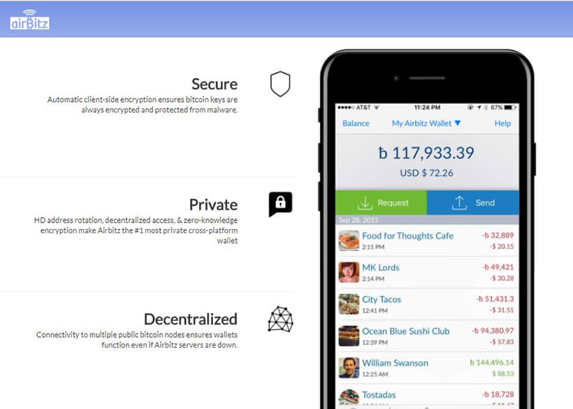 Bitcoin-Wallet Airbitz