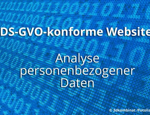 DSG-VO: Wie setze ich die neuen Bestimmungen um? 1. Analyse der personenbezogenen Daten