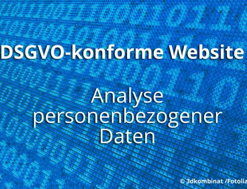 DSGVO: Wie setze ich die neuen Bestimmungen um? 1. Analyse der personenbezogenen Daten