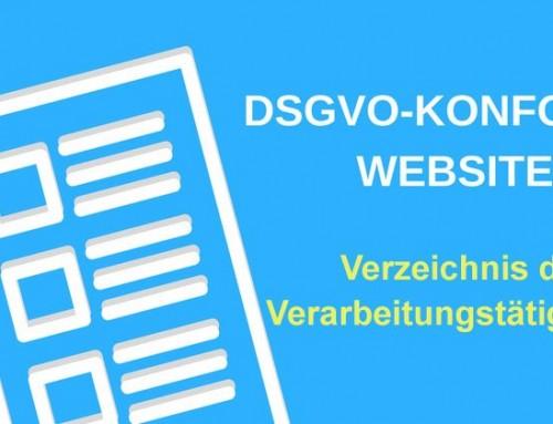 DSGVO: Wie setze ich die Bestimmungen um? 2. Verzeichnis der Verarbeitungstätigkeiten