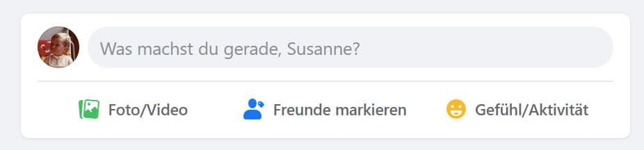 Facebook Beiträge schreiben