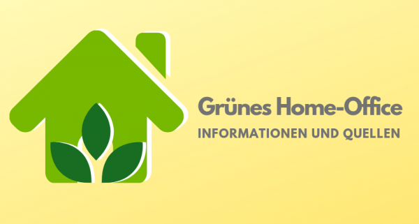 Grünes Home-Office
