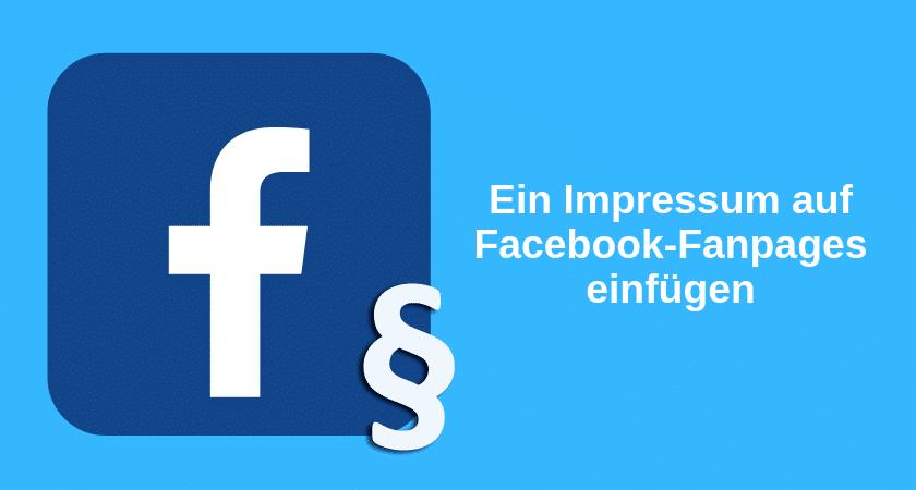 Impressum auf Facebook-Fanpages hinzufügen