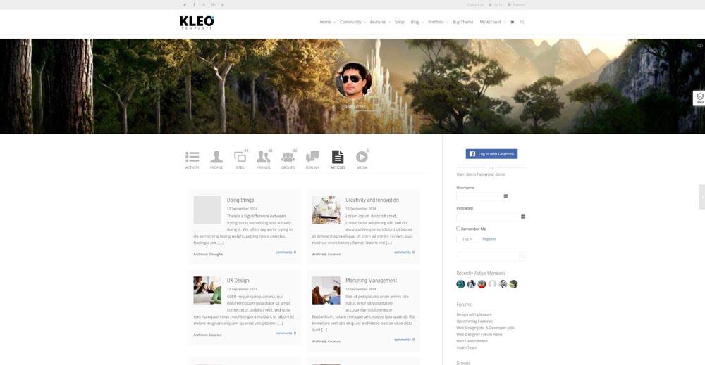 Kleo BuddyPress-Theme