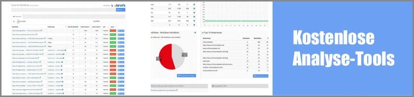 Fünf nützliche kostenlose Analyse-Tools für Keyword-Recherche, Backlinks und Texterstellung