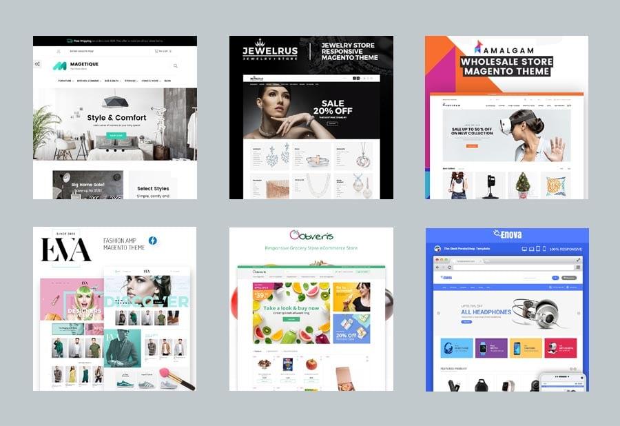 10 moderne Shop-Templates für Magento von TemplateMonster