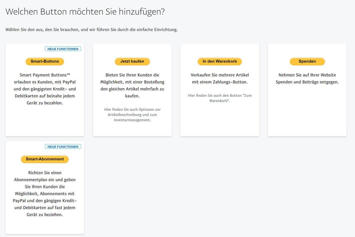 PayPal-Button-Uebersicht